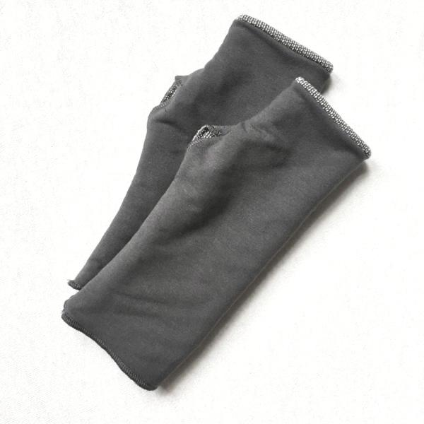 Vegan Reversible French Terry Arm Warmers - Handmade Organic Clothing