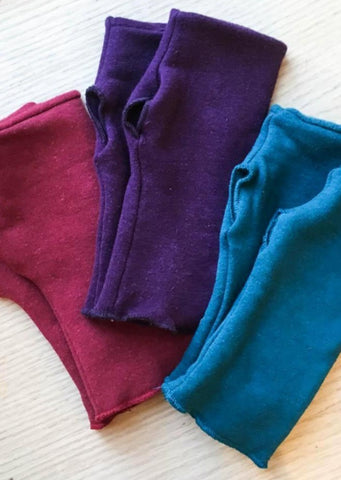Hemp Fleece Arm Warmers - Ready to Ship - Yana Dee