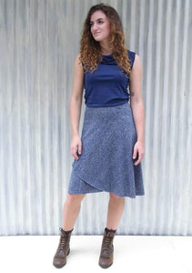 Hemp Midi Wrap Skirt - Custom Made - Clove Skirt - Yana Dee