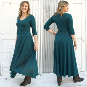 Maxi Hemp Fall Dress - Custom Made Frances Dress - Handmade Organic Clothing