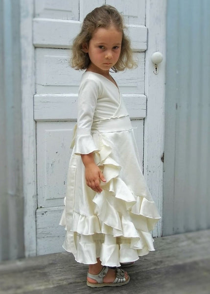 Eleanor Faux Wrap Flower Girl Dress (Custom Made)