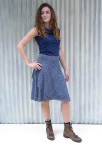 Hemp Midi Wrap Skirt - Custom Made - Clove Skirt - Handmade Organic Clothing