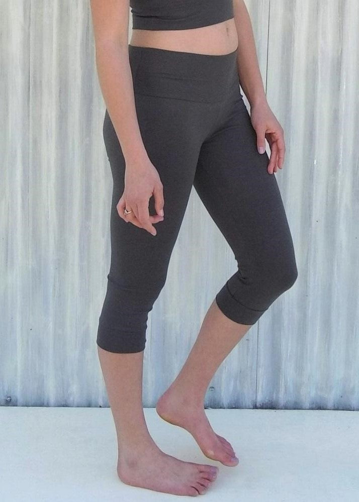 Hemp Lycra Capri Leggings - Custom Made - Reiley Yoga Pants - Handmade Organic Clothing