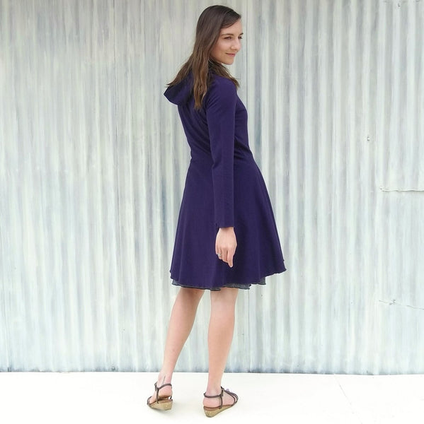 Organic Hooded Outer Layer - Virginia Dress Coat - Handmade Organic Clothing