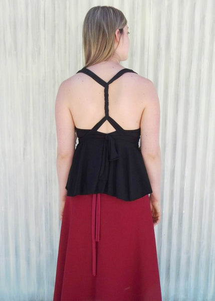 Infinity Top with Full Circle Bottom - Custom Made - Aria Top - Handmade Organic Clothing