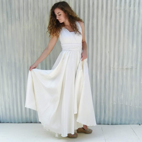 Full Circle Silk Infinity Wedding Dress - Custom Made - Aviana Dress - Handmade Organic Clothing