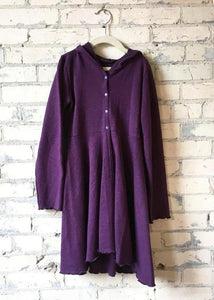 Hemp Fleece Hooded Dress Coat (Juniors)