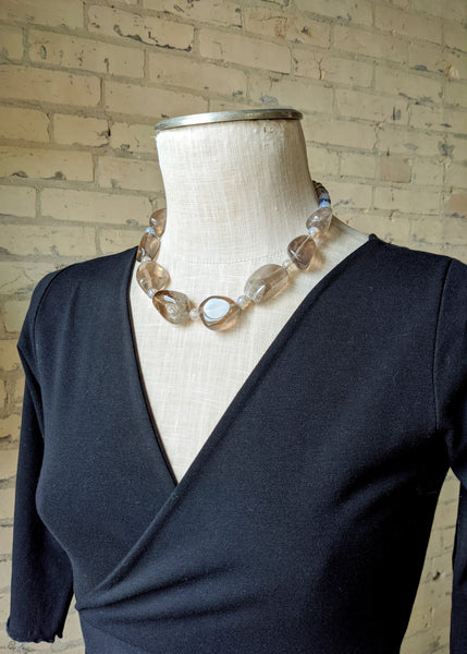 Lady Grey Smokey Quartz Necklace