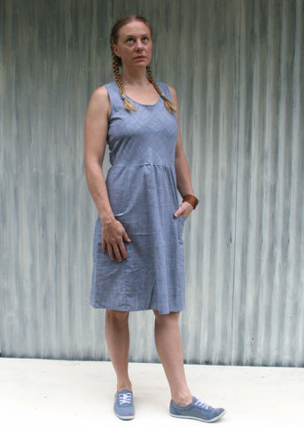 Chambray Nora Dress (Custom Made)