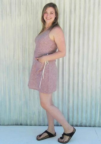 Summer Pocket Dress Made From Hemp - Natalia Dress - Yana Dee