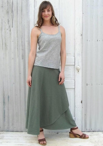 Hemp Maxi Wrap Skirt - Custom Made - Montana Skirt - Handmade Organic Clothing