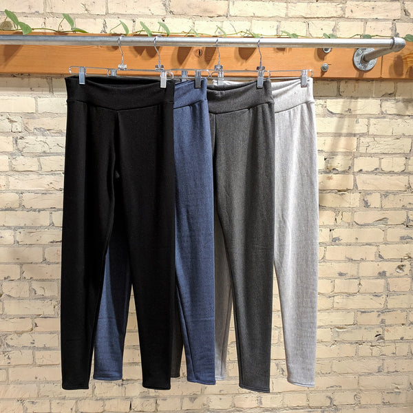 Custom Made Merino Wool & Bamboo Fleece Long Janes - Sharon Wool Leggings - Handmade Organic Clothing