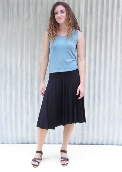 Organic Midi Circle Skirt - Ready to Ship - Lailia Skirt - Handmade Organic Clothing