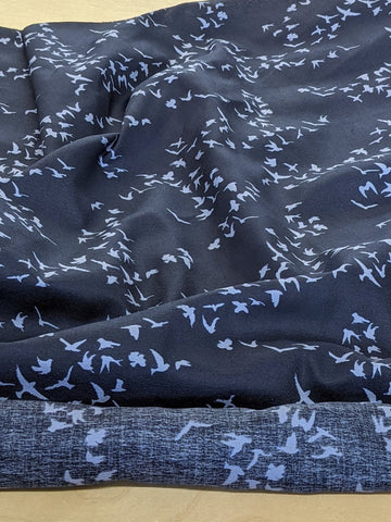 Bird Print Fabric by the Yard