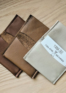 Salvaged Leather Wallet - Handmade Organic Clothing
