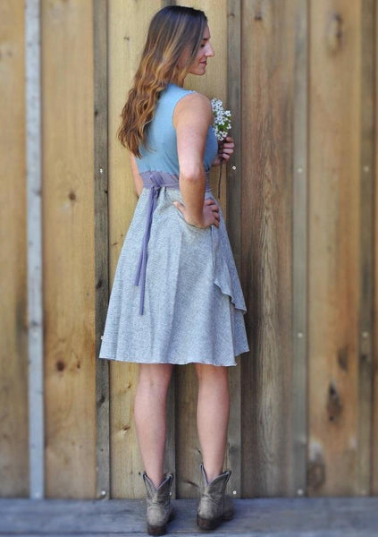 Lightweight Hemp Wrap Dress - Custom Made - Noelle Dress - Handmade Organic Clothing