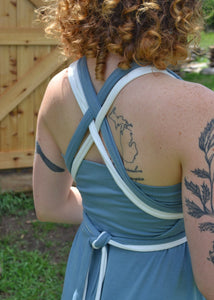 Two-Toned Jersey Infinity Dress - In Stock - Handmade Organic Clothing