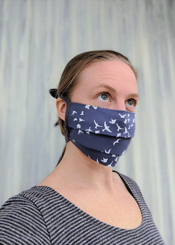 Organic Cotton Cloth Face Mask - Handmade Organic Clothing
