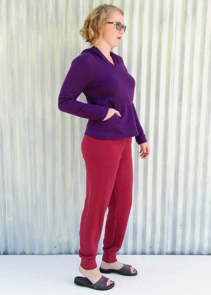 Hemp Fleece Lounge Pants - Custom Made - Sauna Pants - Handmade Organic Clothing