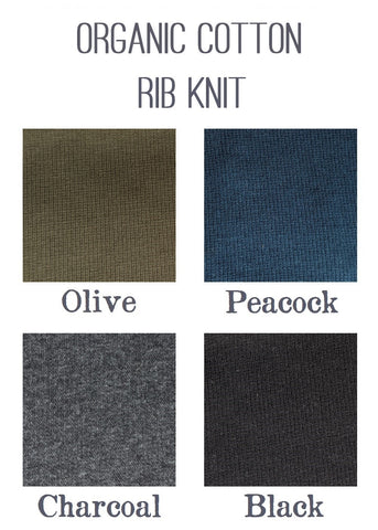 Organic Cotton Rib Knit Color Samples