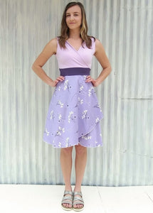 Lavender Wrap Dress (Custom Made)