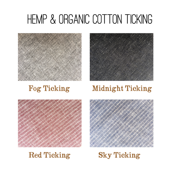 Hemp & Organic Cotton Ticking Color Samples