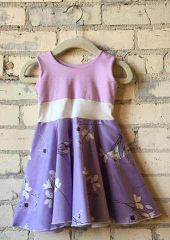 6-18 Month Lovely Lavender Baby Dress - Handmade Organic Clothing