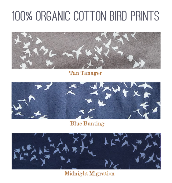 Organic Cotton Bird Print Swatch