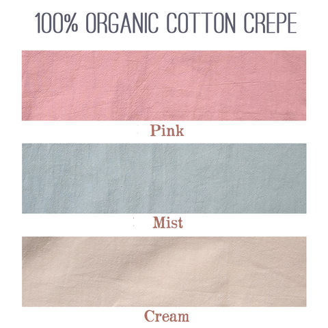 100% Organic Cotton Crepe Color Samples