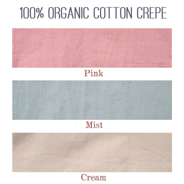 Organic Cotton Crepe T-Shirt - Custom Made - Handmade Organic Clothing