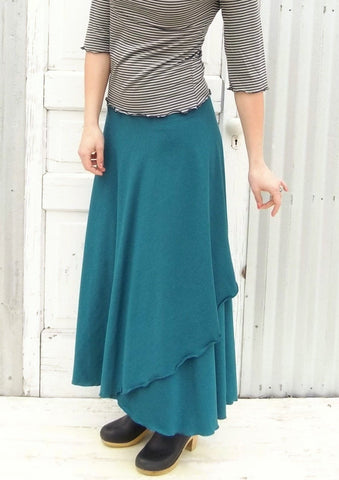 Organic Maxi Wrap Skirt - Custom Made - Iris Skirt - Handmade Organic Clothing