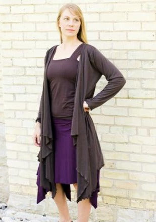 Lightweight Long Sleeve Pixie Cardigan - Custom Made - Thyme Robe