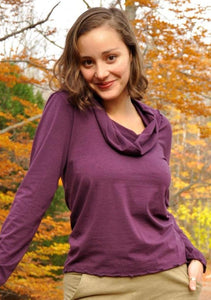 Organic Long Sleeve Turtleneck - Custom Made - Monika Top - Handmade Organic Clothing