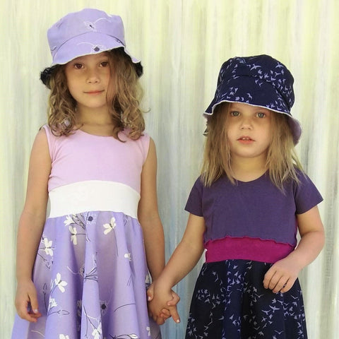 Reversible Sun Hat for Kids - Handmade Organic Clothing