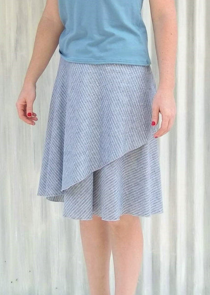 Organic Cotton Midi Wrap Skirt - Custom Made - Cardamom Skirt - Handmade Organic Clothing