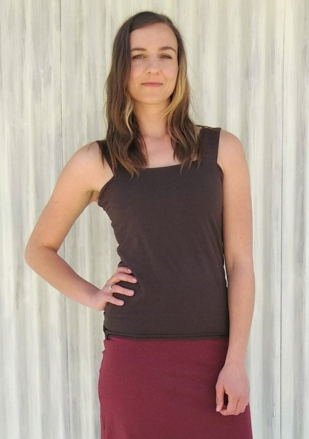 Lined Tank Top - Custom Made Sweet Pea Top - Handmade Organic Clothing