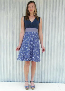 Blue Chickadee Dress - Handmade Organic Clothing
