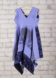 3-5 Years Periwinkle Flight Square Dress