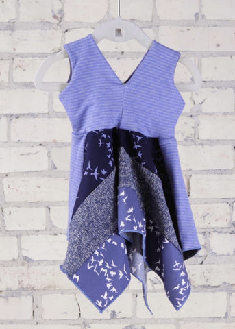 Periwinkle Square Dress (6-18 Months)