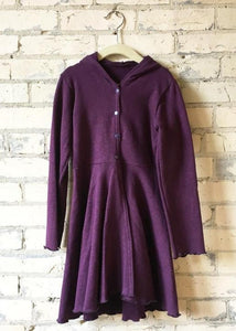 Hemp Fleece Hooded Dress Coat (6-8 Years)