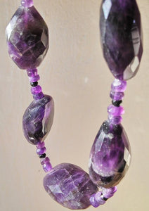 Amethyst Purple Necklace - Handmade Organic Clothing