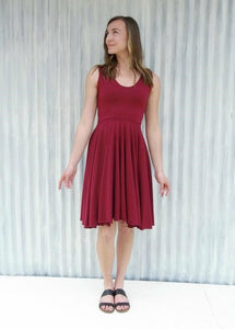 Lined Bodice Sleeveless Circle Dress - Custom Made - Cali Dress