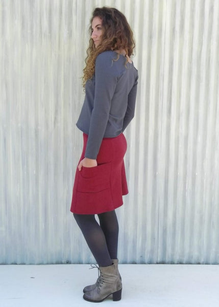 Hilde Pencil Pocket Skirt (Custom Made)