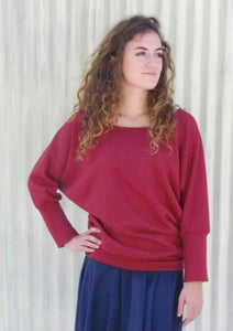 Cozy Batwing Sleeve Top - Custom Made - Ulla Top - Handmade Organic Clothing