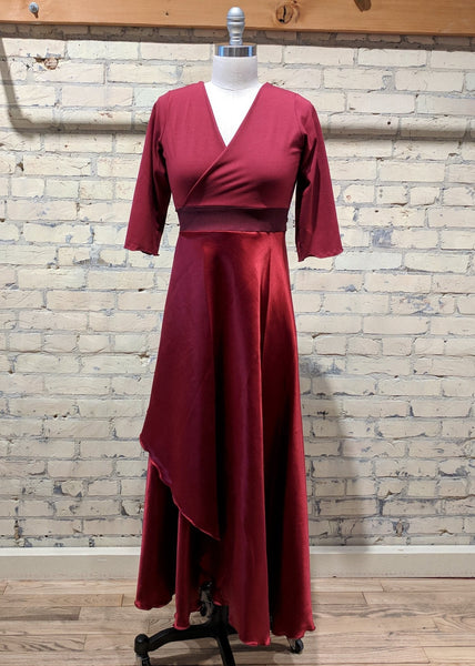 Maxi Silk Wrap Dress - Custom Made - Vivian Dress - Handmade Organic Clothing