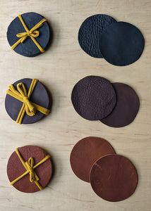 Salvaged Leather Coaster