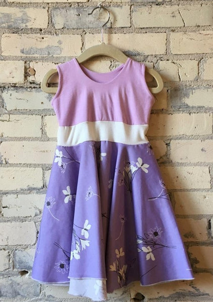 1-2 Year Organic Cotton Sateen Toddler Dress - Yana Dee