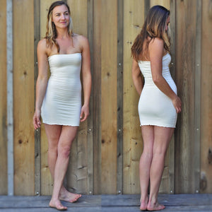 Couture Organic Slip - Raven Tube Dress - Handmade Organic Clothing