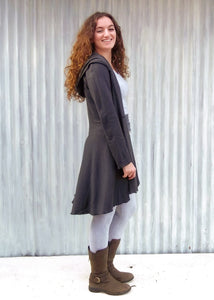 Bamboo Fleece Valora Dress Coat - Ready to Ship - Handmade Organic Clothing