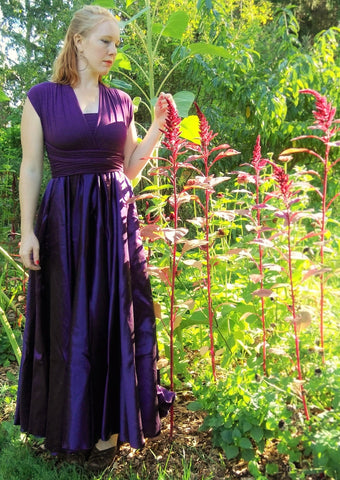 Aviana Silk Infinity Dress - Handmade Organic Clothing